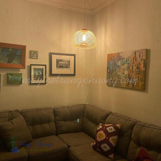 Chụp đèn tre nên trang trí trong nhà sẽ bền đẹp hơn