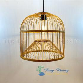 đèn lồng tre mẫu đèn tre hình lồng chim