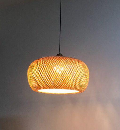 đèn tre đan hai lớp