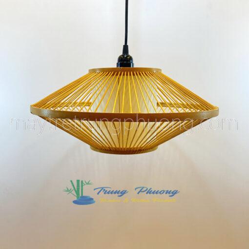 Đèn tre trang trí mẫu đèn đĩa bay đường kính 40cm