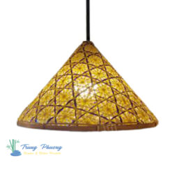 đèn nón tre đan hoa thị