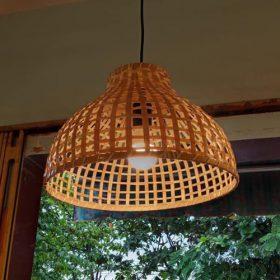 đèn nơm tre cạp gỗ
