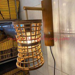 Đèn ốp tường mây tre Trung Phương