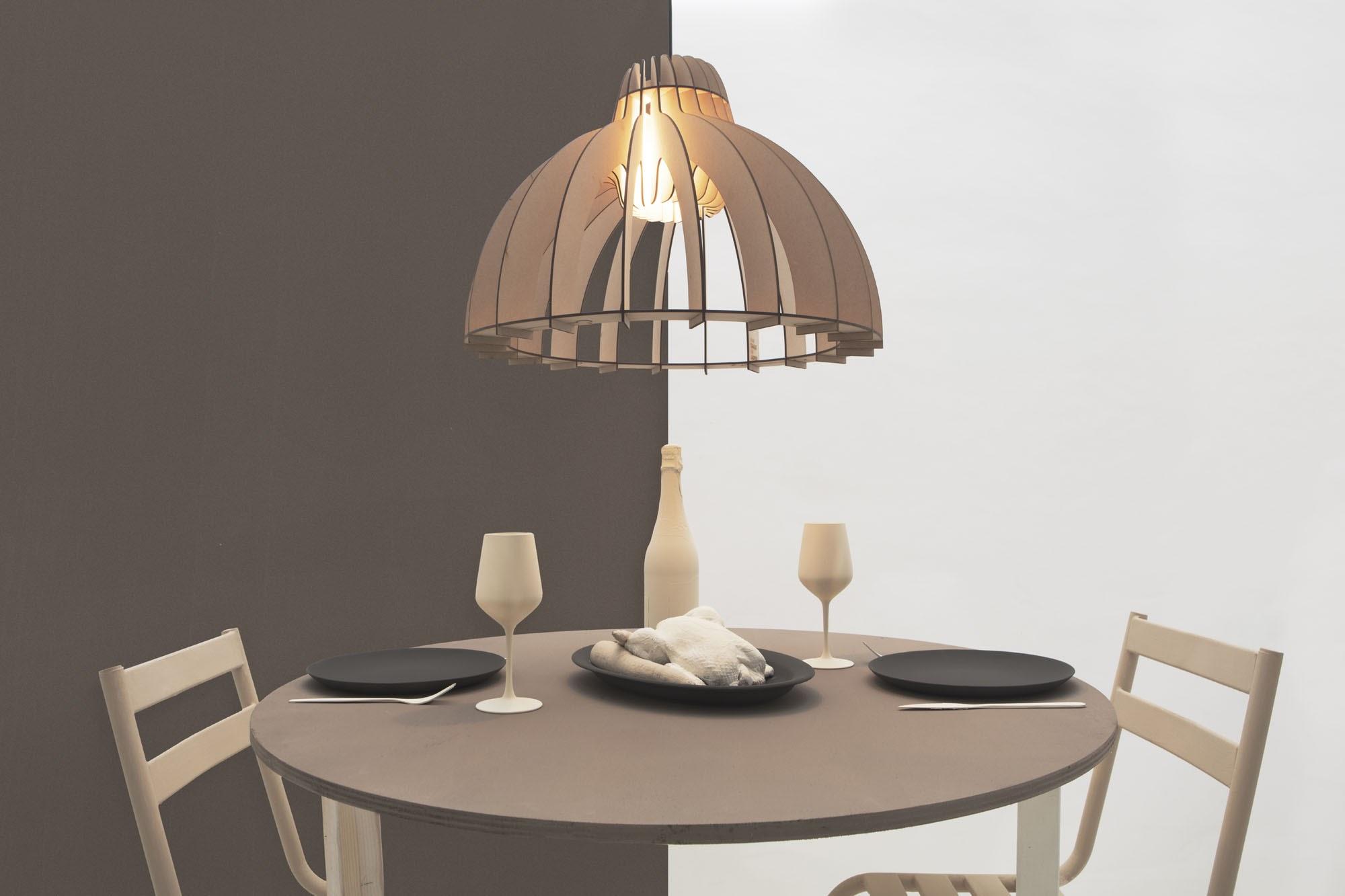Đèn thả gỗ DG153 thả bàn ăn