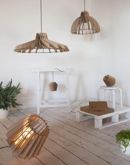 Đèn thả gỗ DG153 trang trí phòng khách