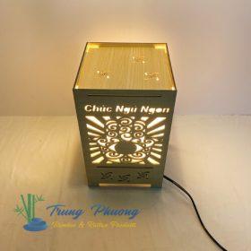 đèn để bàn mây tre gỗ