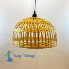 đèn lồng tre hình lồng bàn nan dẹt