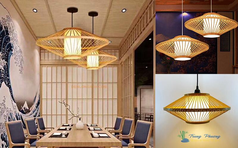 Chụp đèn mây tre phong cách Nhật Bản sang trọng