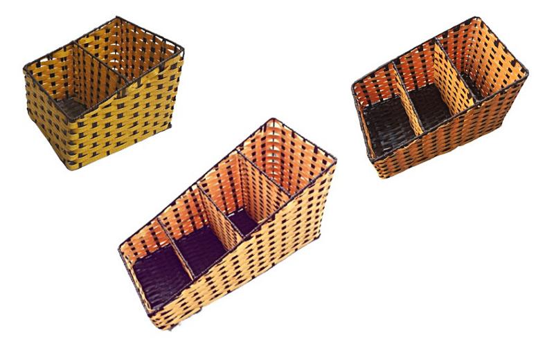 Khay vát nhựa giả mây 2 ngăn, 3 ngăn, 4 ngăn đa công dụng