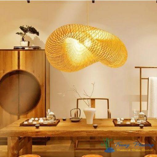 đèn mây tre mẫu đèn mây tre đan nghệ thuật trang trí phòng khách